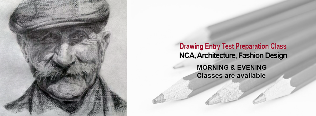NCA Islamabad entry test preparation class, Drawing, Aptitude, Interview, Portfolio